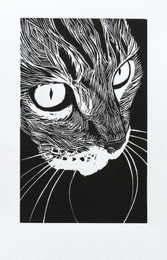 woodcut 'tabby' Peter Polaine| Flickr - Photo Sharing!...