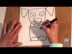 Teaching Kids How to Draw: How to Draw a Puppy - YouTube - LOTS OF YOUNG REMBRANDTS DRAWING VIDEOS