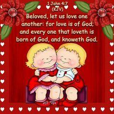 Love One Another Printable Bible Verses, Scripture Art, Bible Scriptures, Bible Quotes, John Kjv, 1 John, Cute Bibles, Valentines Day Greetings, God Prayer