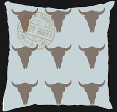 Must Have Custom Designed Decor, Scatter Cushion, designed to your taste colour and theme, bulls horns design; Bull Horns, Scatter Cushions, Afrikaans, Moose Art, Custom Design, Colour, Printed, Home Decor, Color