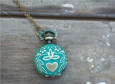 Image of Small Pocket Watch, Teal