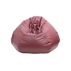 Small Faux-Leather Bean Bag Chair, Red