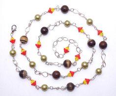 Brown jasper stone bead sterling silver fill wire by BeadedDesygns, $62.00
