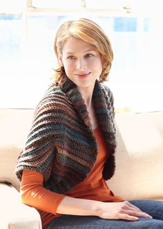 Sequoia Shrug - Free Crochet Pattern With Website Registration - (lionbrand)