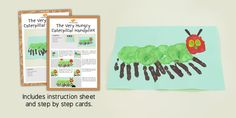 The Very Hungry Caterpillar Handprint Craft Instructions