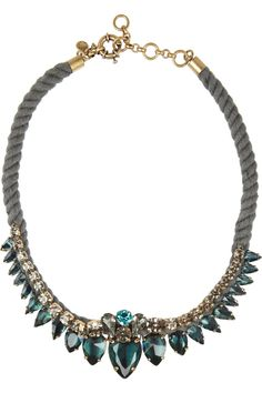 J.CrewGold-tone crystal rope necklace