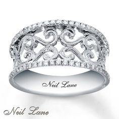 Another right hand ring I like!   Neil Lane Diamond Ring 1/4 ct tw Round-cut Sterling Silver