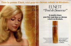 L 'OREAL PRODUCTS | Oréal (Cosmetics) 1972 Elnett, Hairstyle Loreal Cosmetics, Hair Care, Hairstyle, Ads, Vintage, Crafty, Products, Hair Coloring, Hair Job