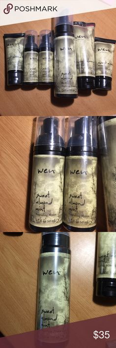 ◾️BUNDLE◾️Wen by Chaz Dean. Packaged Brand new Wen hair care products. 3 nourishing mousses, 2 anti freeze styling creme, one cleansing conditioner. All packaged except one of the nourishing mousse and anti freeze cream. Accessories
