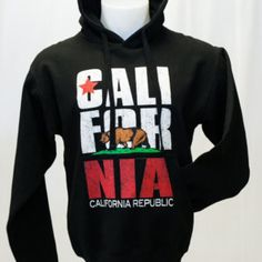 California Republic  Sweatshirt Cali-For-Nia Hoodie. BackToCali.com