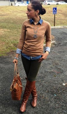 layering with chambray-
