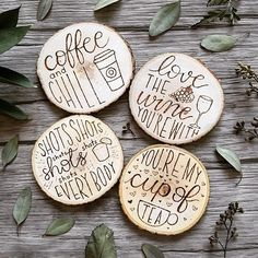 We are loving these sassy and fun coasters! Which one best suits you? We love the wine one