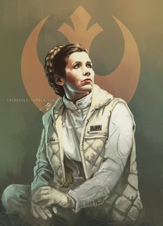 Leia Organa artwork.