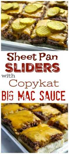 Dinner for a crowd just got easier with these Sheet Pan Sliders with Copykat Big Mac Sauce. The perfect juicy burger with your favorite burger sauce just became effortless from NoblePig.com. via @cmpollak1