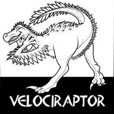 Free Instant Download Velociraptor Cute Dinosaurs Coloring Pages Coloringbook Coloringpages Zentangle Dinosaur
