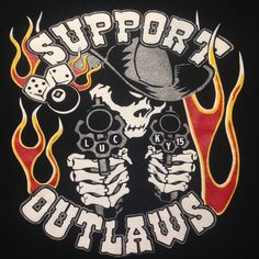 Image of Lucky 15 Outlaws Motorcycle Club, Motorcycle Clubs, Big Cartel, Hells Angels, Asap Rocky, Skulls, Smile, Tattoos, Boys