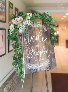 Personalized Wedding Welcome Sign Wooden Wedding Sign Rustic