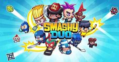 """Smashy Duo per Android e iOS - un casual arcade incredibilmente divertente! Smashy Duo per Android e iPhone è un casual / arcade dal concetto semplice ma allo stesso tempo estremamente divertente da giocare.  In una """"sorta"""" di campo da tennis dovrete controllare i due simp #arcade #indiegame #videogame"""