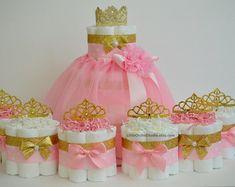 Rosa y oro babyshower / princesa pastel de por LittleOrchidStudio