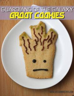 """Make these Groot treats by JustJenn and you may end up the guardian of the cookie jar. """"I am Groot. I am delicious."""""""