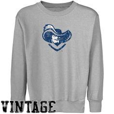 NCAA Xavier Musketeers Youth Ash Distressed Logo Vintage Crew Neck Fleece Sweatshirt (X-Large) - http://www.cincyshop.net/cincinnati-sports/xavier-university/ncaa-xavier-musketeers-youth-ash-distressed-logo-vintage-crew-neck-fleece-sweatshirt-x-large/