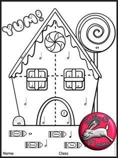 4 Christmas Color-by-Music Note Coloring Sheets!
