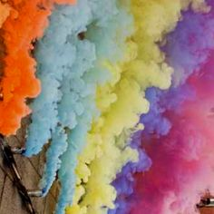 Rebecca Baumann Froot Loops, Colour Inspiration, Land Art, Colour Palettes, Great Pictures, Installation Art, Artworks, Colours, Smoke