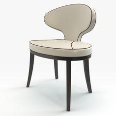 Italian modern chair design - Bra von Schönhuber Franchi. 3D model by RenderJoy. 3D visualization.