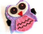 Owl hairclip