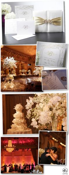 NYC Real Wedding at the Plaza featuring a Lela New York luxury wedding invitation