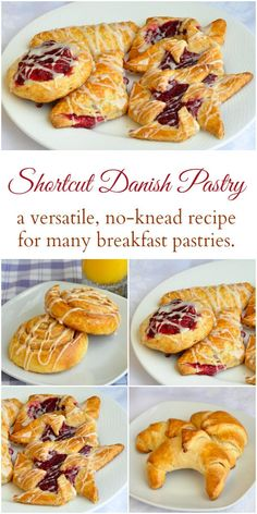 Danish Pastry - the easy way to make Fruit Danish & more. Get the shortcut recipe for danish pastry dough that doesn't even have to be kneaded. Use it for Fruit Danish, Pinwheels, Turnovers, Crescents and more. Fruit Danish Recipe, Recipe For Danish Pastry, Danish Dough Recipe, Pastry Dough Recipe, Puff Pastry Recipes, Danish Recipes, Danish Recipe Easy, Pastries Recipes, Danish Ring Recipe