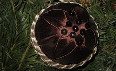Handmade Quilted Christmas Ball Ornament Brown Christmas Balls, Christmas Ornament, Ball Ornaments, Brown, Handmade, Prim Christmas, Christmas Tag, Brown Colors, Chocolates