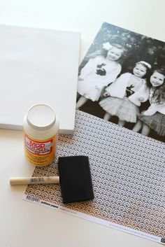 photos on canvas - not just instructions - great ideas for little girl room too.