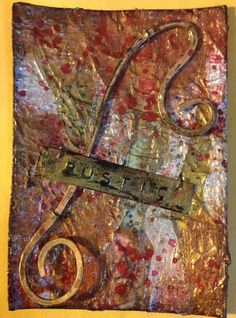 By Ilene McInnes ATC card theme: rust,wire and red.
