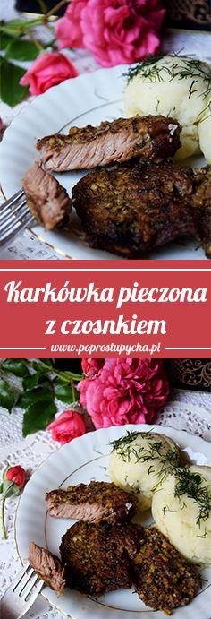 Z racji pory obiadowej polecam Wam pyszną, soczystą zapiekaną karkówkę czosnkowo-koperkową! :)