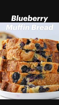 Blueberry Recipes Easy, Banana Bread Recipes, Banana Bread Recipe 3 Bananas, Blueberry Breakfast Recipes, Blueberry Muffin Bread Recipe, Blueberry Oatmeal Bread, Healthy Blueberry Desserts, Banana Bread Brownies, Homemade Blueberry Muffins