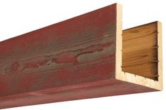 Our box beams provide all of the characteristics of a solid wood beam, at a fraction of the weight! Always made from real oak or cedar, 15 colors. Metal Beam, Cedar Box, Faux Wood Beams, Wood Siding, Red Barns, Ceiling Beams, Custom Boxes, Wood Boxes, Real Wood