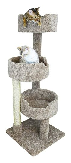 New Cat Condos 52 Deluxe Cat Tree Brown Large *** Click image for more details. (This is an affiliate link) Cat Tree Condo, Cat Condo, Cat Climbing Tree, Large Cat Tree, Cat Activity, Carpet Cover, Cat Towers, Pet Furniture, Cat Scratching