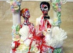 For the undead bride and groom...