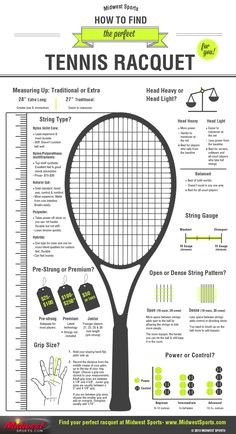 Tips for finding the right racquet and string tension for you: