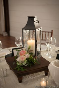 Iron Lantern Reception Centerpiece