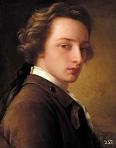Victorian Portraits of Men | an oil portrait of a young man in eighteenth century dress and long ...