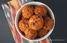 Quinoa Zucchini Meatballs - healthy, vegetarian, and under 200 calories and only 4 points plus