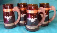 Vintage Beer Mugs Siesta Ware Early American Mugs by chriscre, $10.00