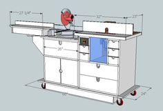 Combination Miter and Router portable workbench