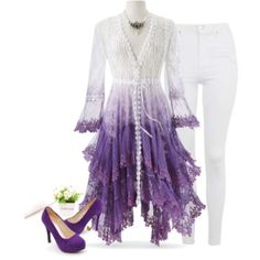 Purple Ombré Long Lace Jacket - Women's Clothing & Symbolic Jewelry – Sexy, Fantasy, Romantic Fashions Purple Jacket, Lace Jacket, Purple Ombre, Gothic Corset Dresses, Pyramid Collection, Plus Size Cocktail Dresses, Wedding Dress, Purple Fashion, Pretty Outfits