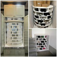 How to build a Lazy Susan Cabinet for Shoes