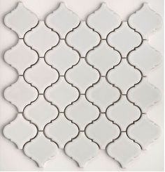 Beveled arabesque tiles.
