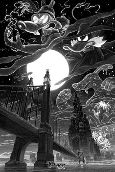 """Darkwing Duck """"The Terror that flaps in the Night"""" - By Nico Delort"""