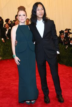 Julianne Moore in Balenciaga with Alexander Wang at the Met Gala [Photo by Evan Falk]